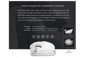 Elbatex Bedmode: Diamant Elegance 90% dons dekbed